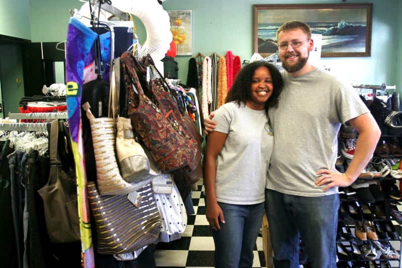 Photo Credit: OUTLOOK PHOTO: JIM CLARK - Jerusalem and Josh Farmer opened the Good Deal Resale on Main Avenue and Division Street in April. The couple decided to expand into a retail space after their 2-year-old online business proved highly successful.