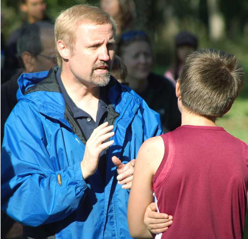 Photo Credit: SETH GORDON - The Veritas cross country team will be coached by sixth grade teacher and former Amity coach Ken McChesney, who co-founded the school's middle school program two years ago.