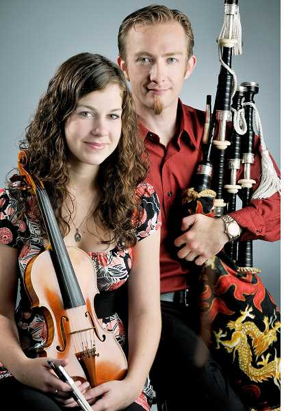 Photo Credit: SUBMITTED - Blending tradition - Rebecca Lomnicky and David Brewer will perform at the Newberg Music Center Friday. The duo plays Scottish music.