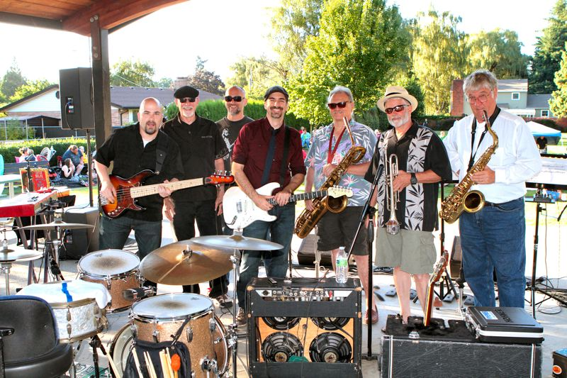 Photo Credit: DAVID F. ASHTON - The band, Kevin Selfe and the Tornadoes, assembles to play at Ardenwald Park.