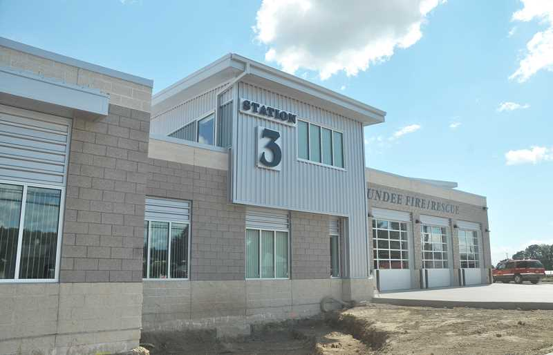 Photo Credit: GARY ALLEN - The Dundee Fire Department's new station is completed, although paving and landscaping remain where the old station once stood on the east end of the property.