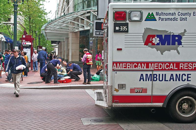 Photo Credit: TRIBUNE FILE PHOTO - Portland officials say the city is taking a fresh look at possibly allowing the fire bureau to charge to transport people to local hospitals, much like private ambulance services.