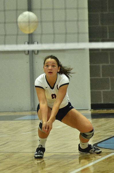 Photo Credit: VERN UYETAKE - Lake Oswego libero Sydney Padgett returns to the team this year on a large and experienced team that hopes to be very competitive in the Three Rivers League.