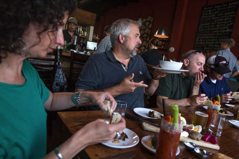 Photo Credit: TRIBUNE PHOTO: JONATHAN HOUSE - Longtime food writer Liz Crain and John Gorham, chef/owner of Toro Bravo and Tasty n Sons, are teaming up on a Tasty book to be released in 2016.