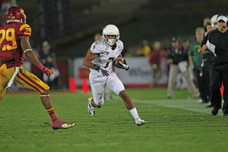 Photo Credit: TRIBUNE FILE PHOTO: JAIME VALDEZ - Keanon Lowe, a senior with 40 catches over the past two seasons, is the University of Oregons top returning receiver.