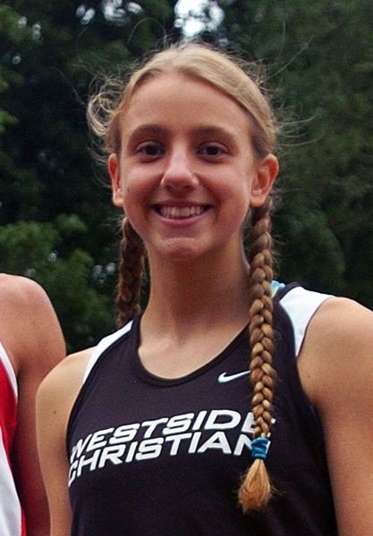 Photo Credit: DAN BROOD - Lisa Jauch is the top returning runner for the Westside Christian girls team.