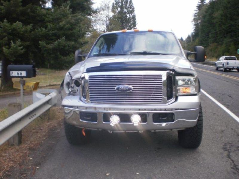 Photo Credit: COLUMBIA COUNTY SHERIFF'S OFFICE - Damage to the truck that hit and killed Michael Linden.