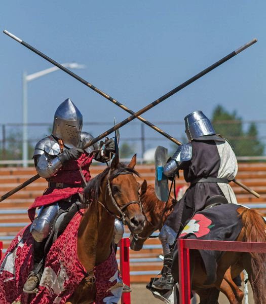 Photo Credit: PAMPLIN MEDIA GROUP: CHASE ALLGOOD - Knights joust at Renfest.