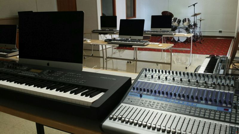 Photo Credit: PHOTO COURTESY OF PORTLAND PUBLIC SCHOOLS VIA FACEBOOK - The new, state-of-the-art, high-tech technology used in Wilson's new Sound Production classroom.