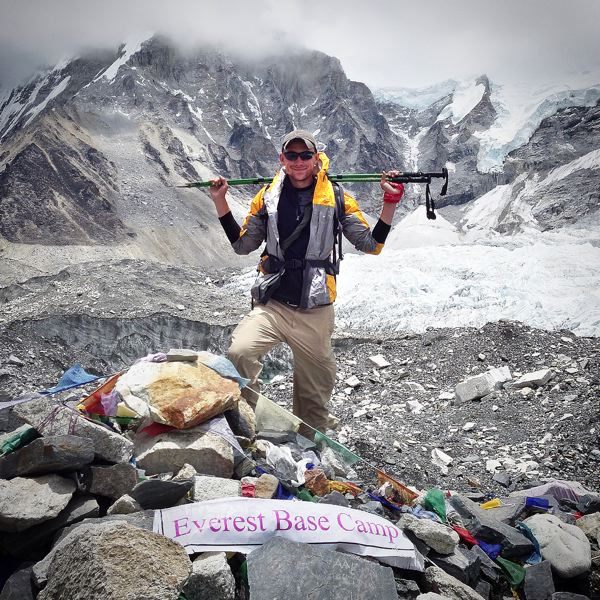 Photo Credit: CONTRIBUTED PHOTO: CORY CROUSER - Crouser spent six weeks this summer volunteering and traveling in Nepal. He hiked up to base camp at Mt. Everest during the last leg of his journey.