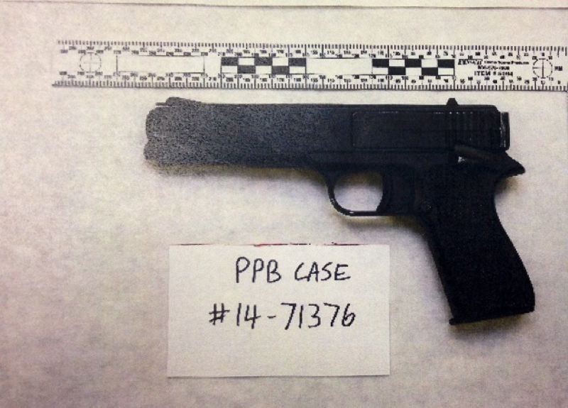 Photo Credit: PORTLAND POLICE BUREAU - Photo of replica gun Denorris Laron McClendon was carrying when he was shot by Officer Michael Honi on Monday, Sept. 1.