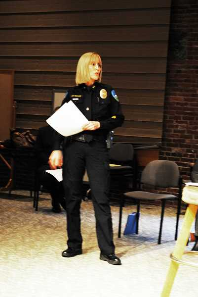 FGPD chief Janie Schutz joined the panel last week.