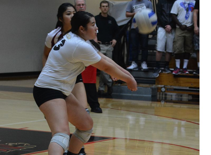 Photo Credit: TIMES FILE PHOTO - Southridge senior defensive specialist Kelly McClean brings a wealth of experience and knowledge to the court for the Skyhawk volleyball team.