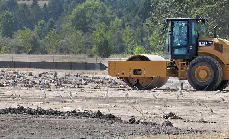 Photo Credit: GARY ALLEN - Unfortunate noise - Pile driving and construction work in Dundee has sparked resident complaints, but the Oregon Department of Transportation said it's necessary to move forward with the Newberg-Dundee Bypass.