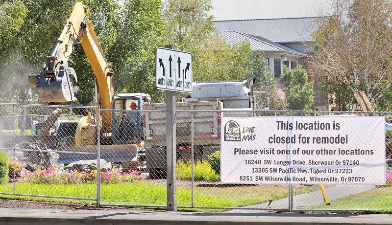 Photo Credit: GARY ALLEN - Contractors will soon begin the job of rebuilding the Newberg Taco Bell store on Portland Road.