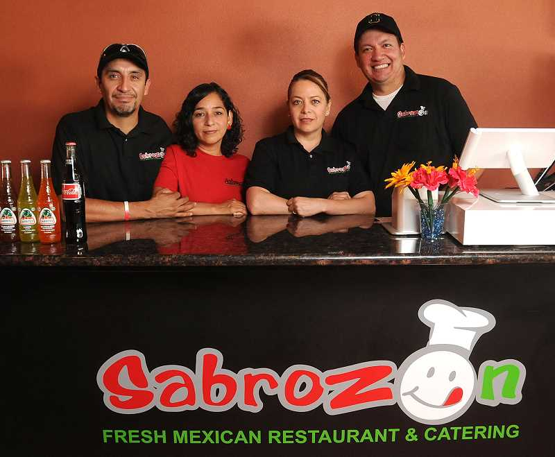 Sabrozon owners are, from left, Luis and Patricia Millan, and Maggie and Paul De La Torre.