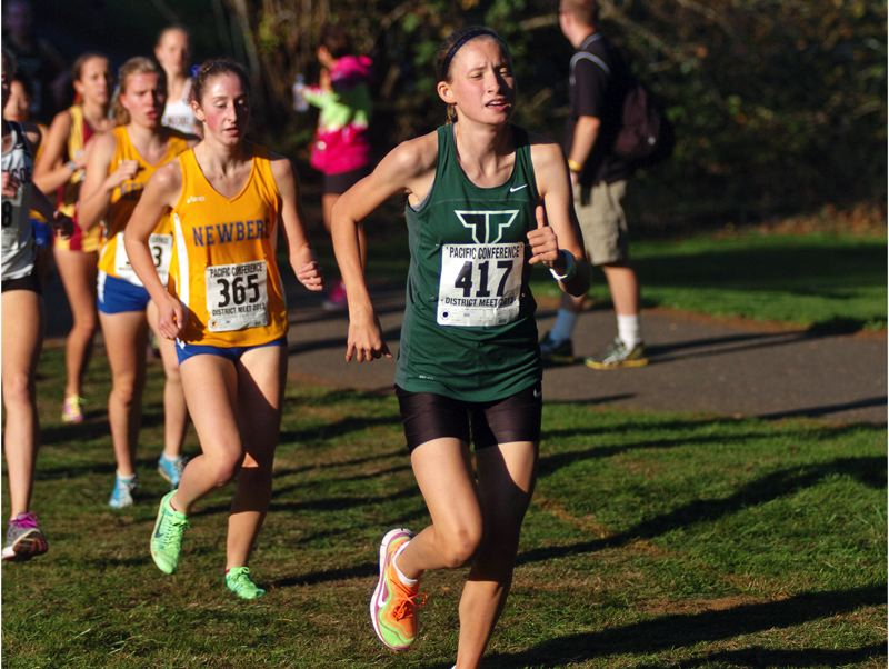 Photo Credit: DAN BROOD - GOING FASTER -- The Tigard High School girls cross country team will be looking to get a strong performance this season from Hannaly Duff-McGaughey.