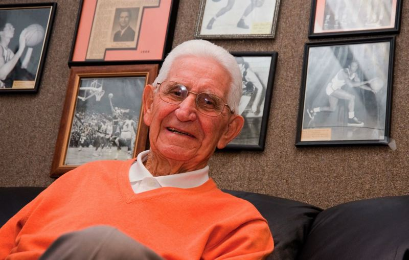 Photo Credit: COURTESY OF OREGON STATE UNIVERSITY - Former Oregon State basketball coach Paul Valenti, who died last week at age 94, spent 72 years in Corvallis, leaving a special legacy among his many friends and former players.