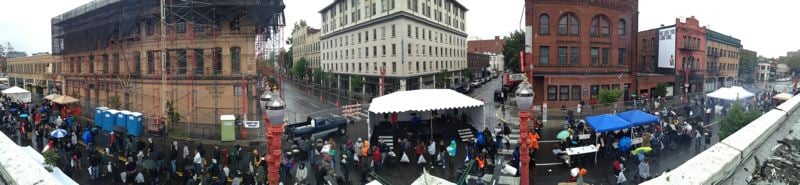 Photo Credit: SUBMITTED PHOTO - People in need are invited to head to the Union Gospel Mission's 14th annual Operation Overcoat block party today from 10 a.m. to 2 p.m. in downtown Portland.