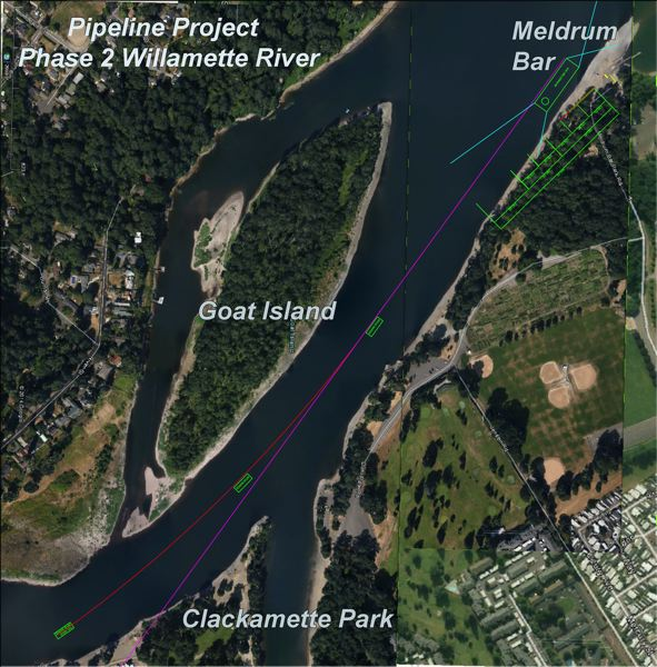 Photo Credit: COURTESY OREGON MARINE BOARD - A one-month construction project begins Tuesday on Willamette River; boaters should steer clear.