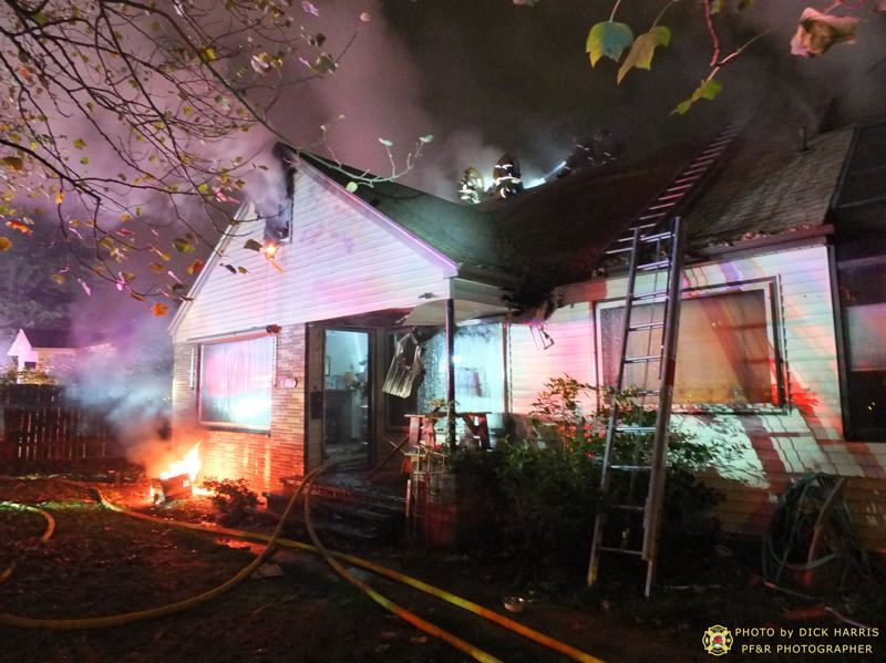 Photo Credit: DICK HARRIS/PORTLAND FIRE & RESCUE - This house at 9119 Southeast Lincoln St. was destroyed by fire Monday.