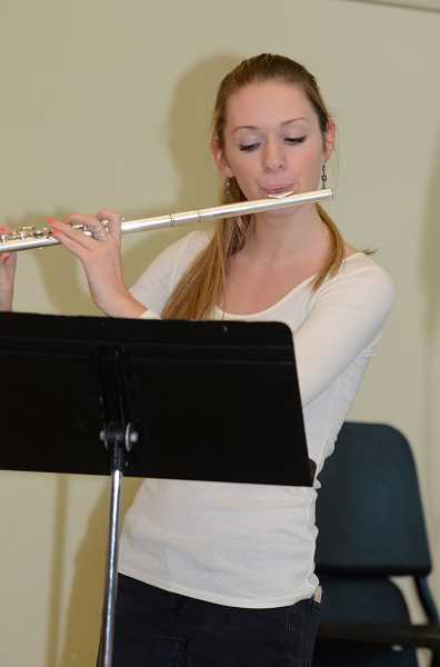 Photo Credit: SUBMITTED PHOTO - Caroline Glausi is one of 21 students named to Oregon's 2015 All-State band and choir. She and hundreds of other band and choir students will be performing Oct. 30 at the high school's annual Noodles and Notes fundraiser.