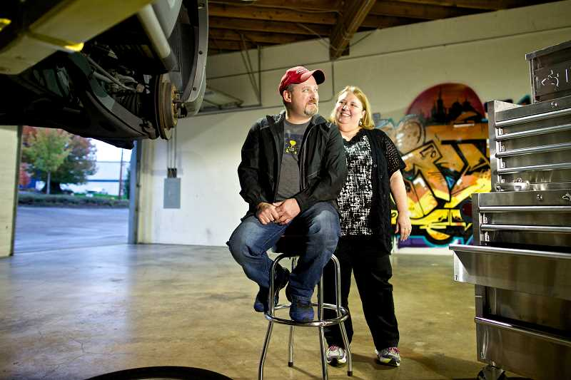 Pamplin media group new tigard garage is driven to succeed photo credit times photo jaime valdez michael crone and his wife debbie solutioingenieria Gallery
