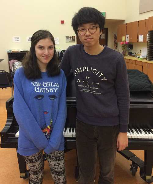 Photo Credit: SUBMITTED PHOTO - Lake Oswego High School All-State musicians included Rachel Bard, voice; and Denny Shin, voice.