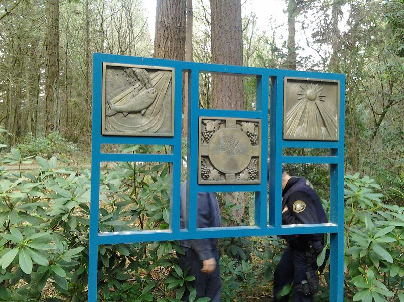 Photo Credit: COURTESY PORTLAND POLICE BUEAU - The plaques stolen from The Grotto are similar in size and style to these.