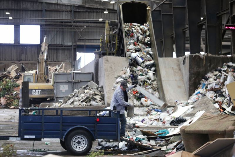 Recycling Is Picked Up Thursday On Deering Avenue In Portland Crews Use Diffe Trucks To