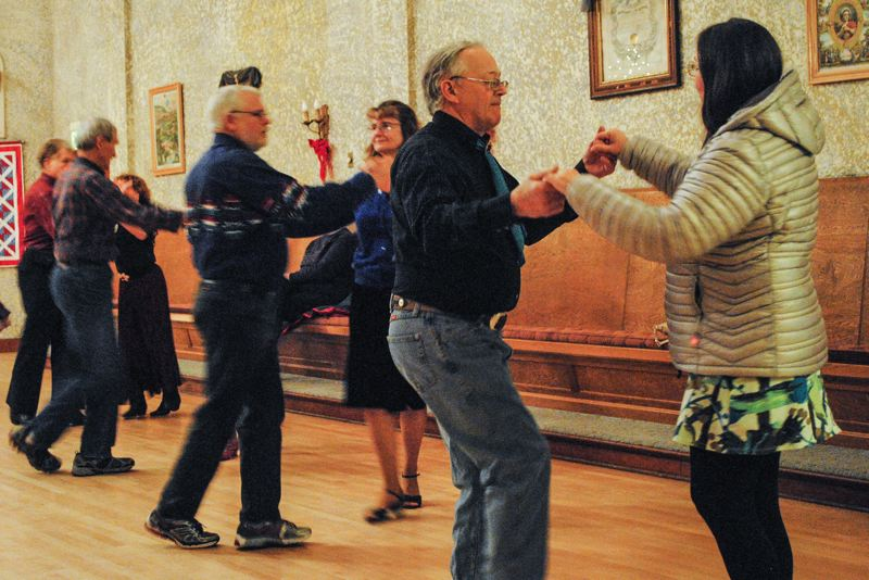 Photo Credit: HILLSBORO TRIBUNE PHOTO: STEPHANIE HAUGEN - Round dancing is a couples dance thats more formal and romantic, and square dancing is a lively group dance.