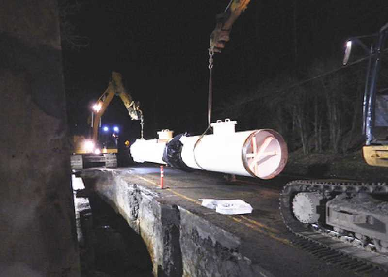 Photo Credit: SUBMITTED PHOTO - Two separate crews are working in West Linn and Lake Oswego to connect a pipeline that will deliver treated water from the LOT plant to Lake Oswego and Tigard.