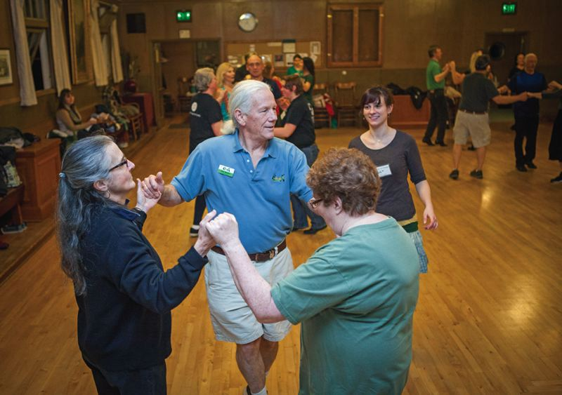 Photo Credit: TIMES PHOTO: ADAM WICKHAM - Sam Keator (center) has been teaching Irish dance classes in Tualatin for eight years, and feels that keeping this alive is important for keeping the culture of the city alive, as well.