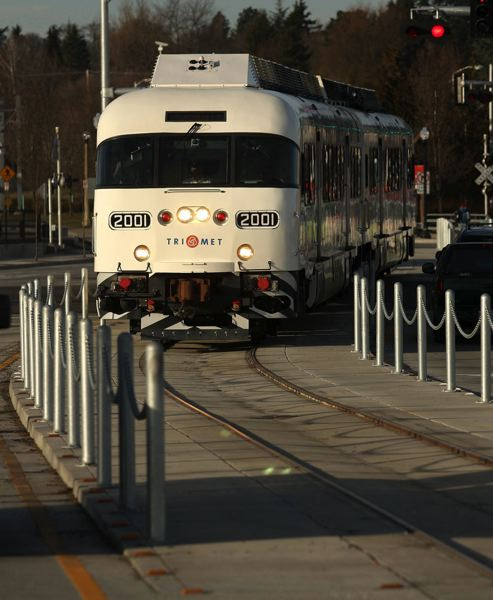 Photo Credit: TRIBUNE FILE PHOTO: JAIME VALDEZ - TriMet's WES commuter rail travels through Beaverton on its 14.7-mile run to Wilsonville. A bill in the 2015 Legislature could set up a state task force to study expansion of the rail line to Salem.