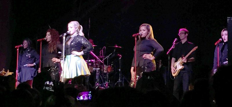 Photo Credit: COURTESY OF M'CHEL BAUXAL-GLEASON - Meghan Trainor and her band belted out tunes during her Feb. 13 concert at Portland's Wonder Ballroom.