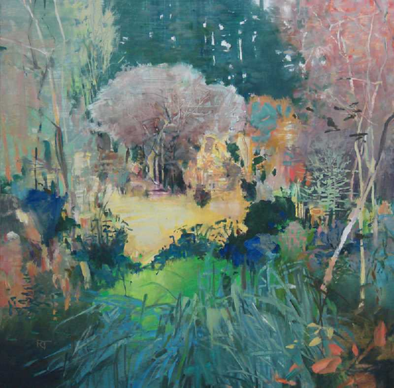 Lake Oswego artist Randall David Tipton will show his art, including Into Bryant Woods, oil on panel in Environments.
