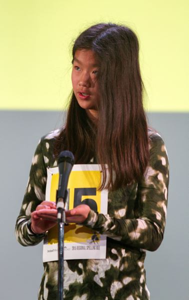 TRIBUNE PHOTO: JIM CLARK - Natalie Cha, 12, of Three Rivers Charter School in West Linn, will compete in the Scripps National Spelling Bee in Washington, D.C., in May.