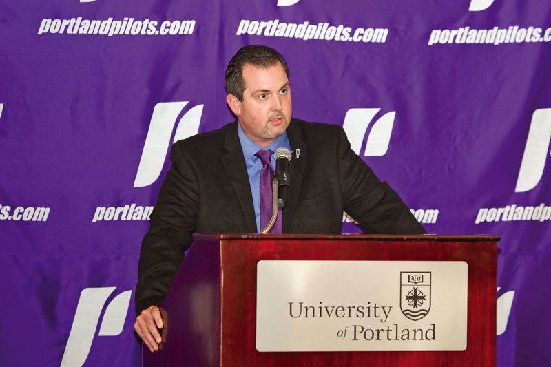 COURTESY OF UNIVERSITY OF PORTLAND - Scott Leykam, in his third year as athletic director at the University of Portland, estimates that 40 to 50 percent of his job is spent with fundraising and community relations.