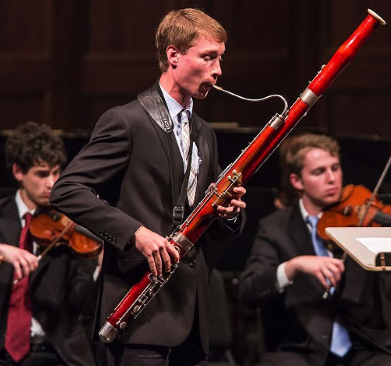 CONTRIBUTED PHOTO BY DAVID BAZEMORE - In just 10 years, Keith Buncke has gone from an aspiring bassoonist to one of the best in the country.