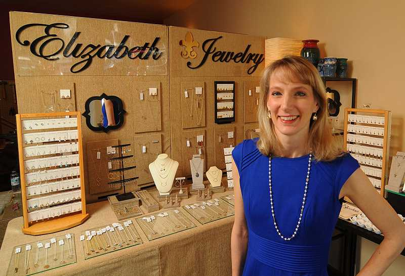 STAFF PHOTOS: VERN UYETAKE - Jeweler Molly Rahe has opened Elizabeth Jewelry in Westlake Village. The shop is two-thirds studio space where people can watch her make jewelry and one-third retail.