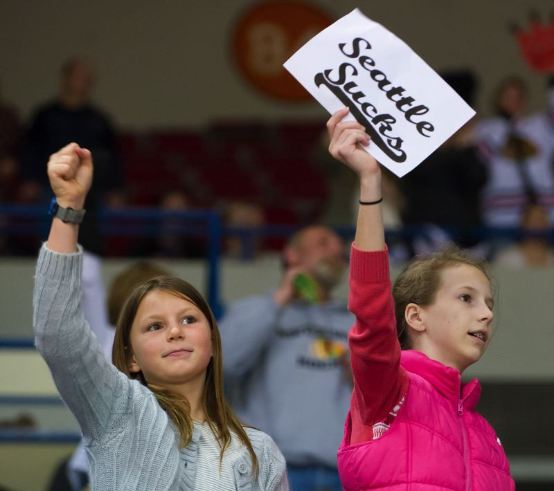 Young fans show their feelings about Portland's opponent.