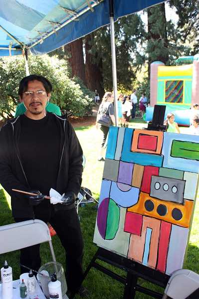 Last year, Garza was featured at the annual Latino Festival in Hillsboro, where he provided a demonstration of his approach to painting.