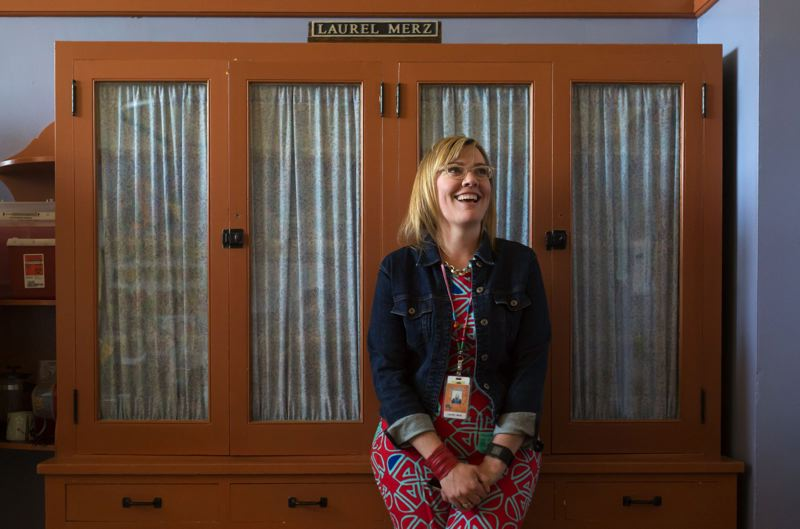 TRIBUNE PHOTO: JONATHAN HOUSE - Benson High School nurse Laurel Merz serves two schools, but Multnomah Education Service District nurses serve up to seven schools. Merz says she worries about her students when she's not in the building.