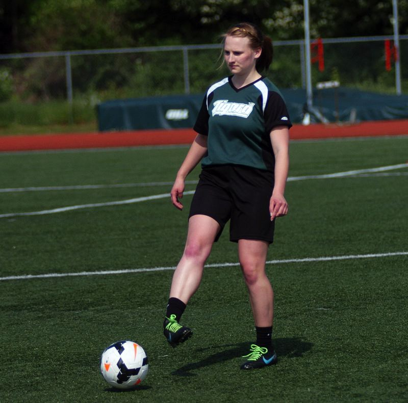 DAN BROOD - Sela Brazier, a 2015 Tigard High School graduate, founded and organized the unified soccer program at the school.