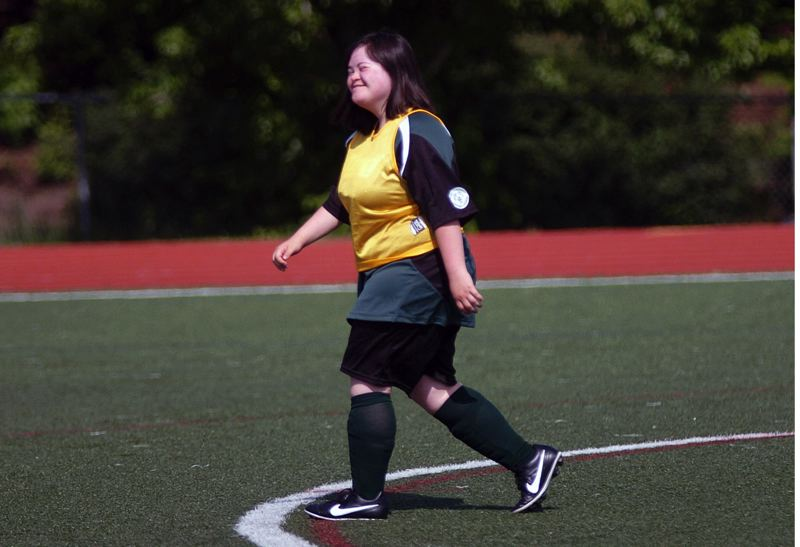 DAN BROOD - There were plenty of smiles seen at the Tigard High School unified soccer match.