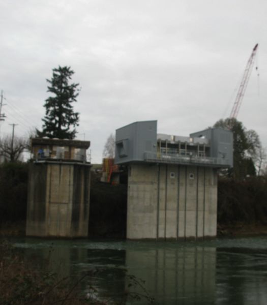 PHOTO BY: RAYMOND RENDLEMAN - The smaller pump station on the left will be destroyed starting July 1.