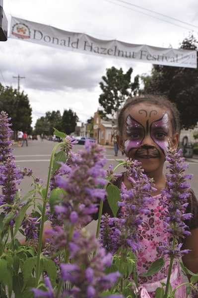 SARA BAILEY - The Hazelnut Festival featured children's activities like face painting.