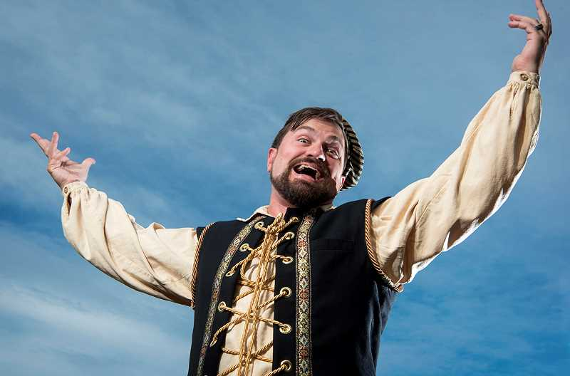 COURTESY PHOTO: CASEY CAMPBELL PHOTOGRAPHY - Peter Schuyler plays the comedic Richard III in Bag&Baggage Productions version of the Shakespearean play, opening Wednesday, July 22.