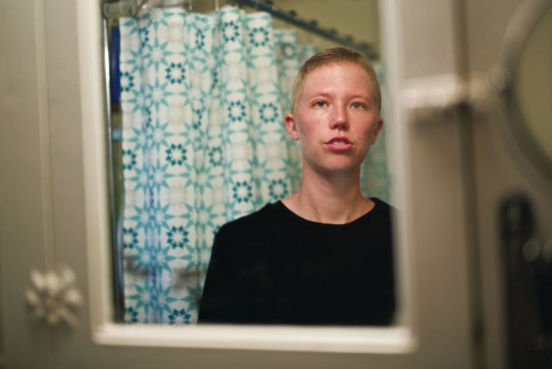 TIMES PHOTO: JAIME VALDEZ - The first time Leo Soell saw themselves in a mirror after having a bilateral mastectomy and a haircut, it was the first time they'd felt as though their physical appearance matched their internal identity since childhood.