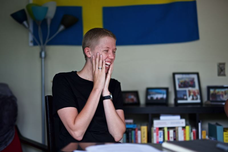 TIMES PHOTO: JAIME VALDEZ - At just 25 years old, Leo Soell is a teacher, cancer survivor and advocate.